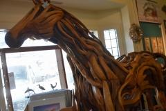 Driftwood horse in an art shop.