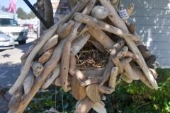 Driftwood bird house.