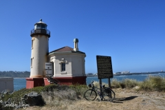 We rode to the Coquille River Lighthouse.