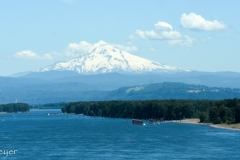 Mount Hood, viewed crossing the bridge over to Oregon.