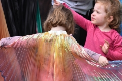 All the kids wanted a fairy-wing cape.