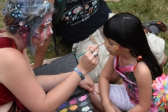 Lots of face painting.