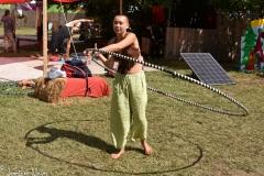 Hula hoop practice.