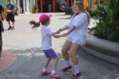 Walking to Disneyland, a spontaneous dance.