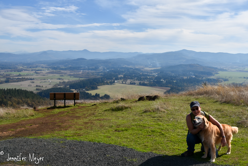 On the 12th, for my birthday, I hiked to the top of Mount Pisgah.