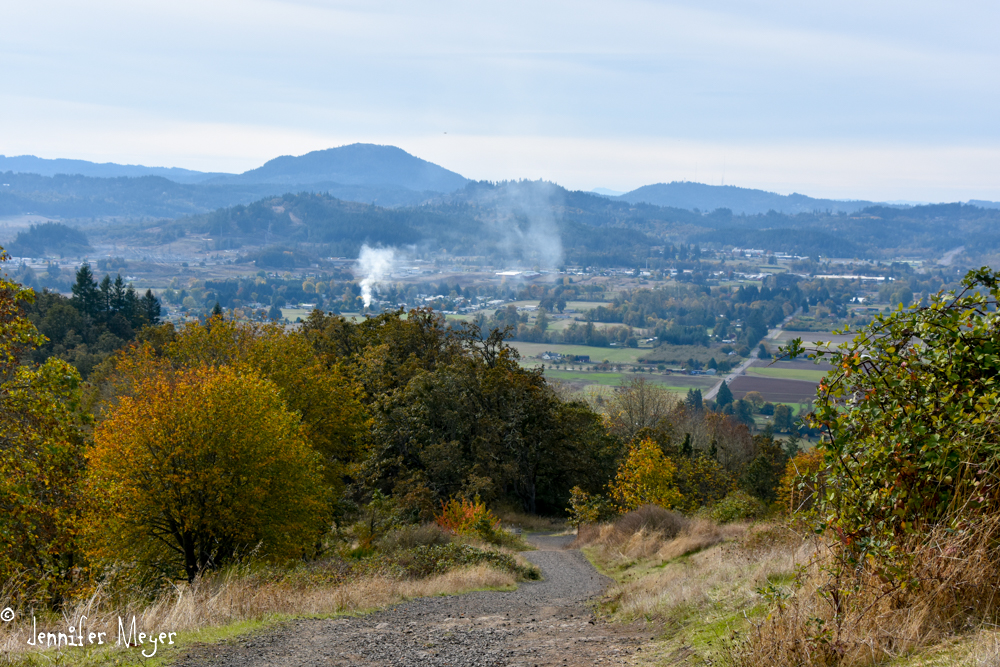 Looking toward Spencer Butte, where we live.