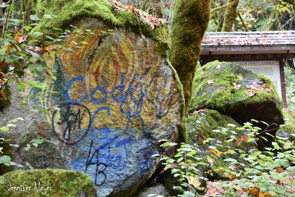 Graffiti in nature.
