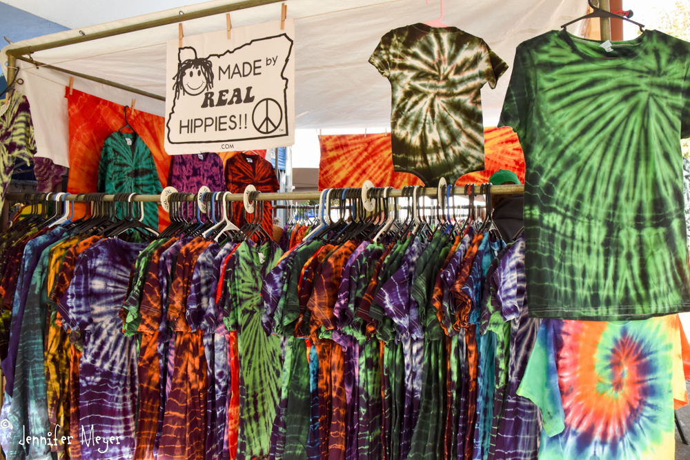 Eugene is famous for its tie-dye.