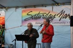 Local musicians at Saturday Market.