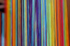Rainbow strings.