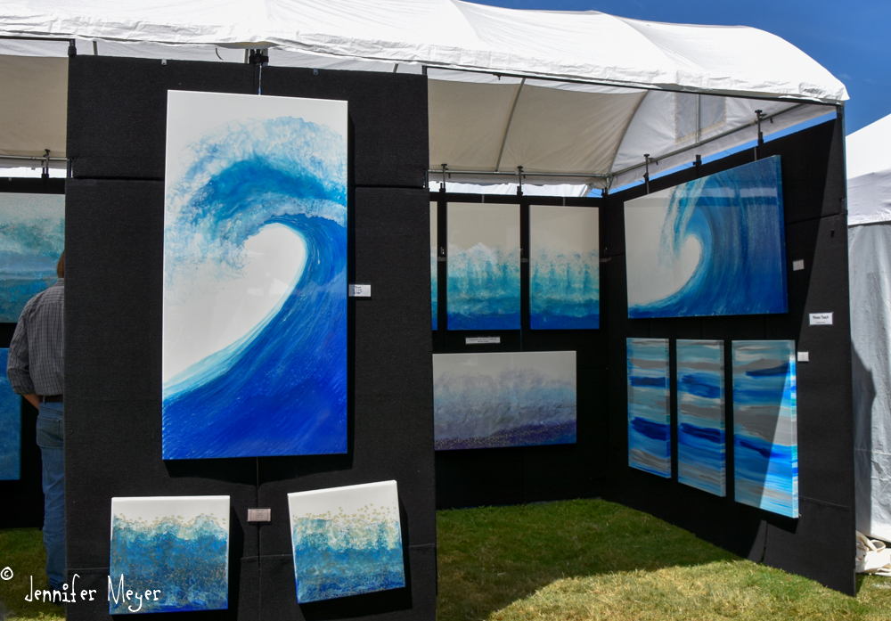 Many art booths.