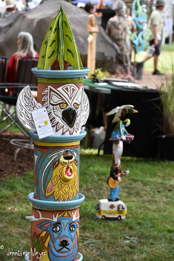 Lots of fun garden art.