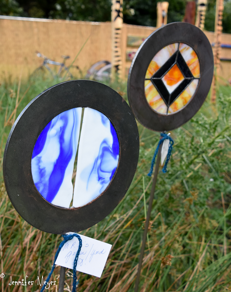 Stained glass circles.