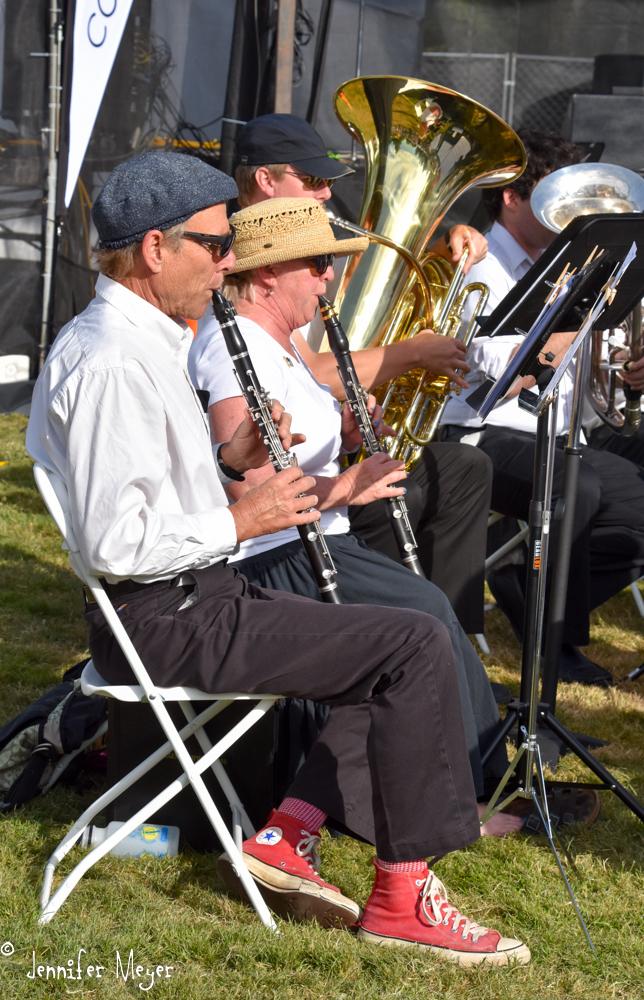 The Eugene Symphony Band played.