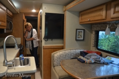 After breakfast, we showed off the RV.