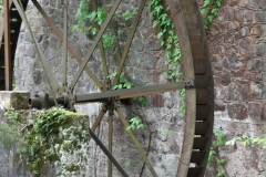 Rusty water wheel.