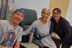 We all wore scarves to the cancer center.