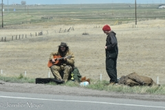 Hopeful hitchhikers. Sorry, guys.