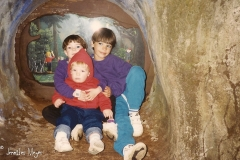 Tobi, Jesse, and Nathan at Enchanted Forest.