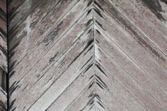 Herringbone pattern in the doors.