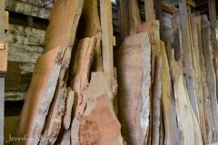 This interesting artisan shop takes raw wood burl...