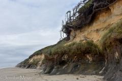 Craggy cliffs.