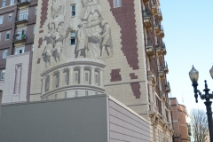 Toodling by a famous mural.