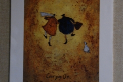 "A Sam Toft poster: ""Carrying On Regardless."""