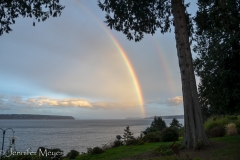 At Claire and Marsha's house... a double rainbow!