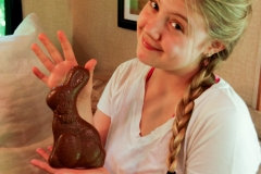 And a chocolate bunny.