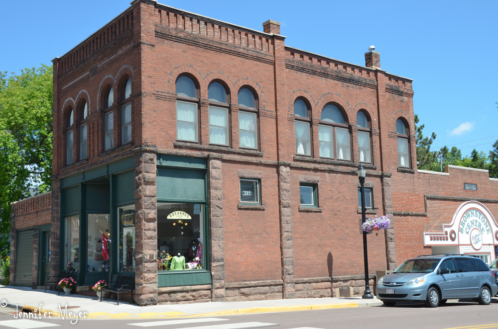 Many Bayfield buildings are made from the brownstone from an island quarry.