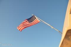 Boat's flag.