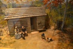 Diorama of George's home life with the Carvers.