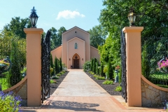 A classy entrance to the chapel.