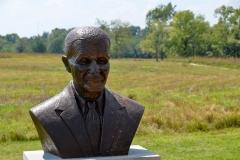Bust of George Washington Carver.