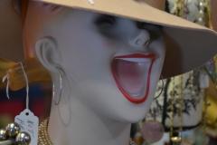 Freaky mannequin head.