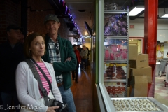 We went on a tour of the Angell & Phelps chocolate factory.