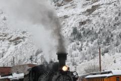 Photo of steam train in 2011.