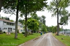 It's a sweet neighborhood of houses.