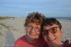 A beach selfie.