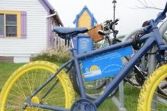 City bicycles.