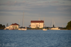 Marine Center across the bay.