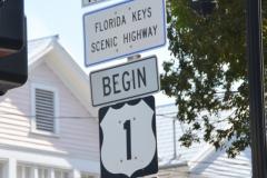 The beginning of Highway 1.