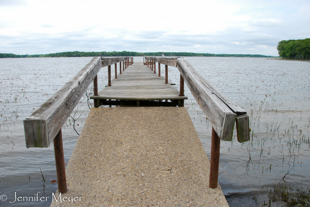 This pier had been submerged last time.