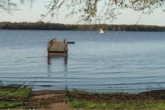 Far away dock.