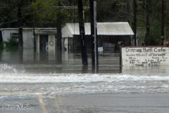 Flooded cafe.