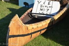 A real birch canoe.