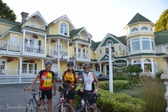 These people had biked from Muncie, Indiana and were staying at this fancy hotel.