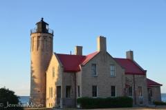 The lighthouse near the bridge.