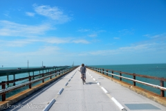 We rode on the old 7-mile bridge.